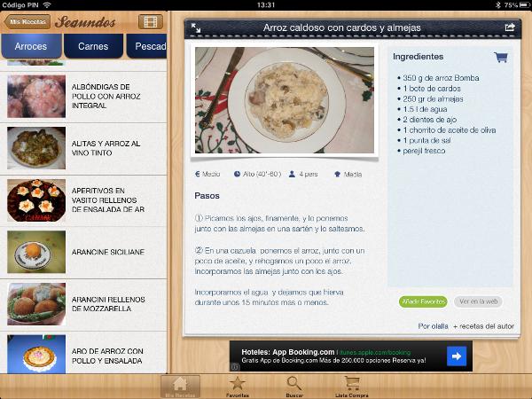 Todas mis recetas aplicación móvil