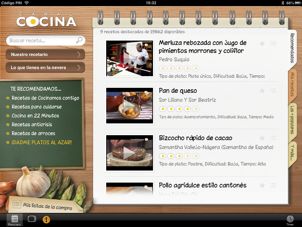 Canal cocina app