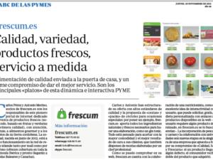 Reportaje en Abc a frescum.es